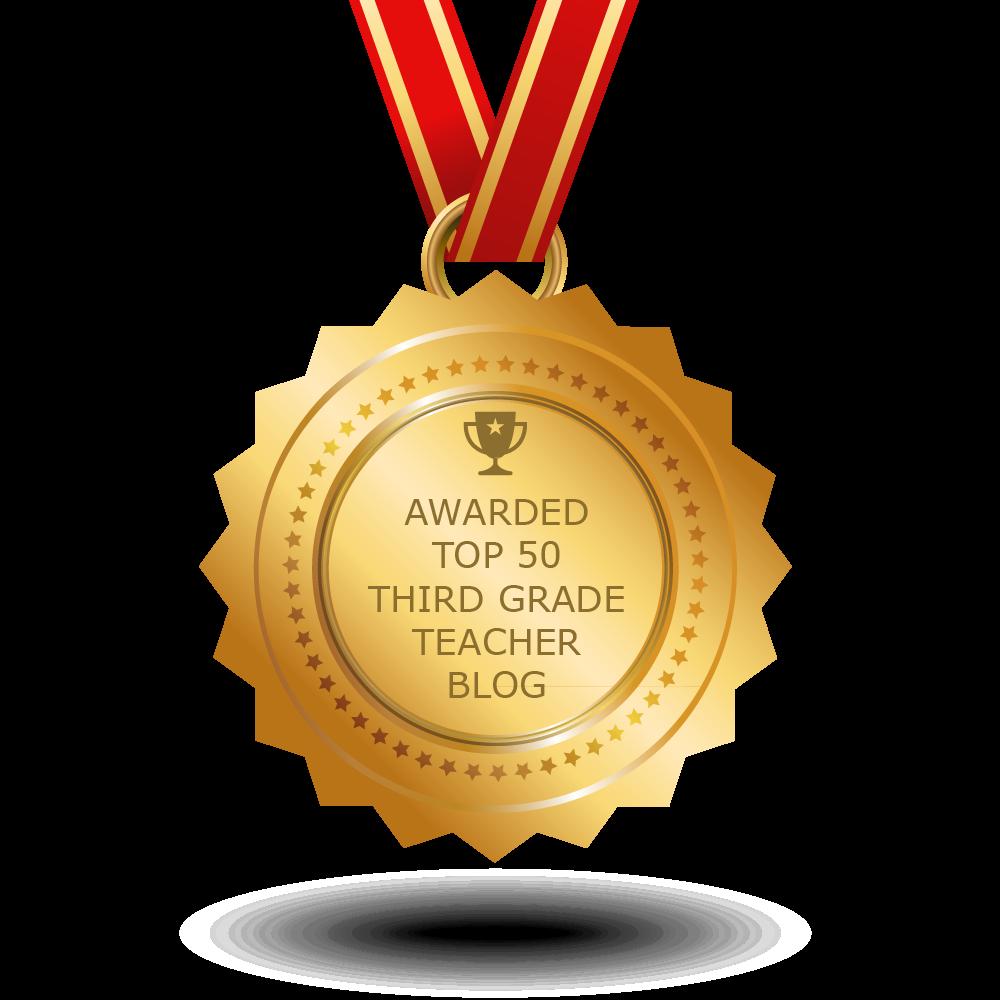Top third grade teacher. Learning clipart award