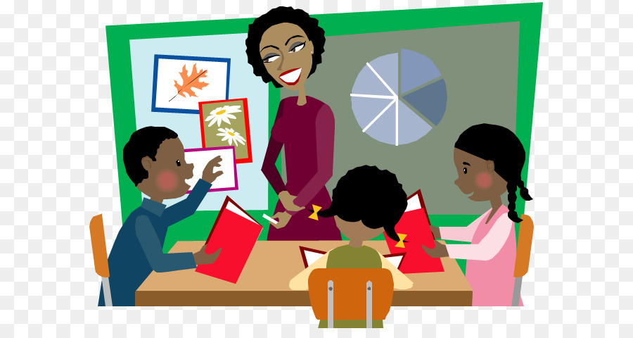Learning clipart engaged student. School background design