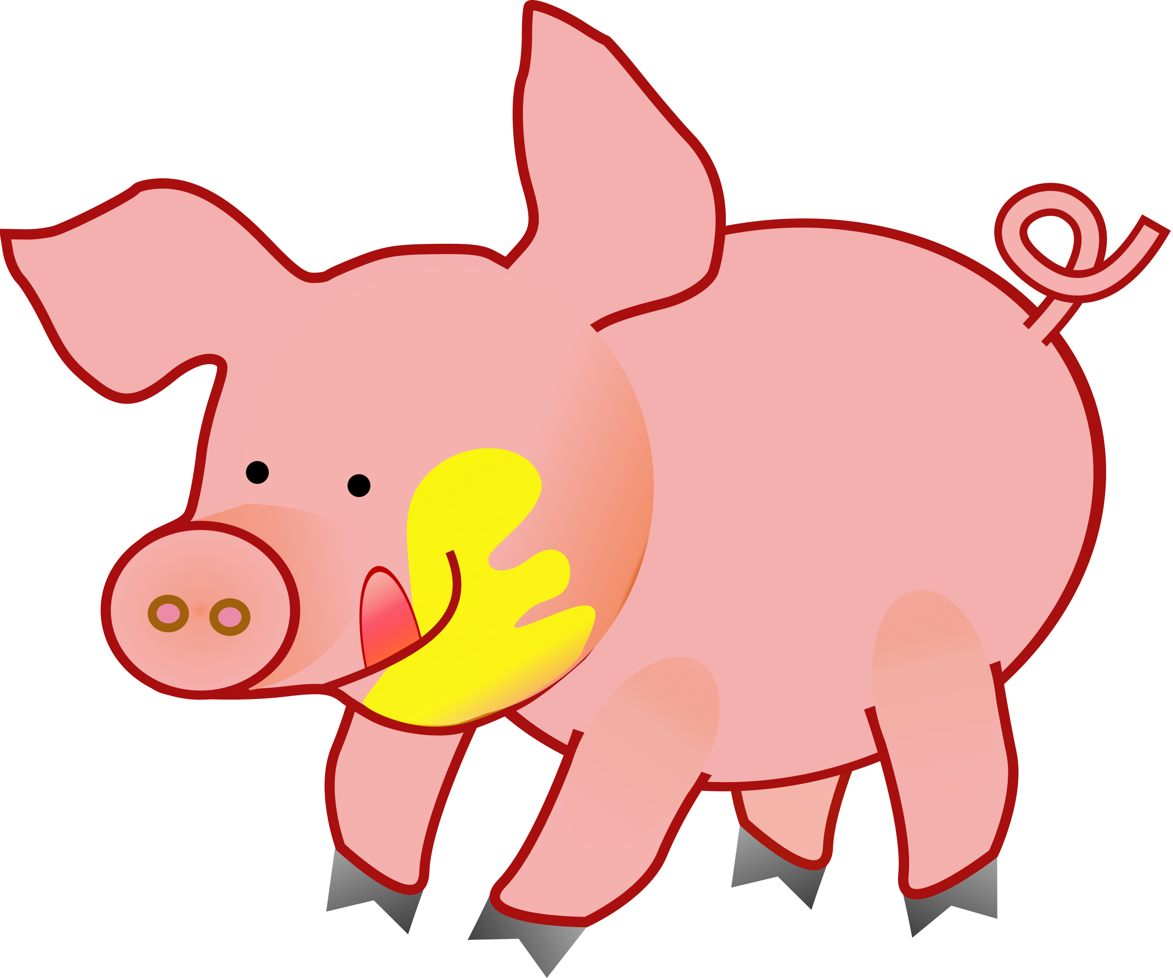 pig clipart domestic animal