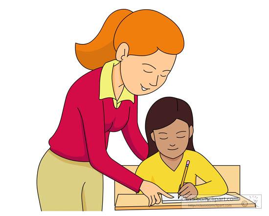 Teach clipart tutoring.  teacher and students