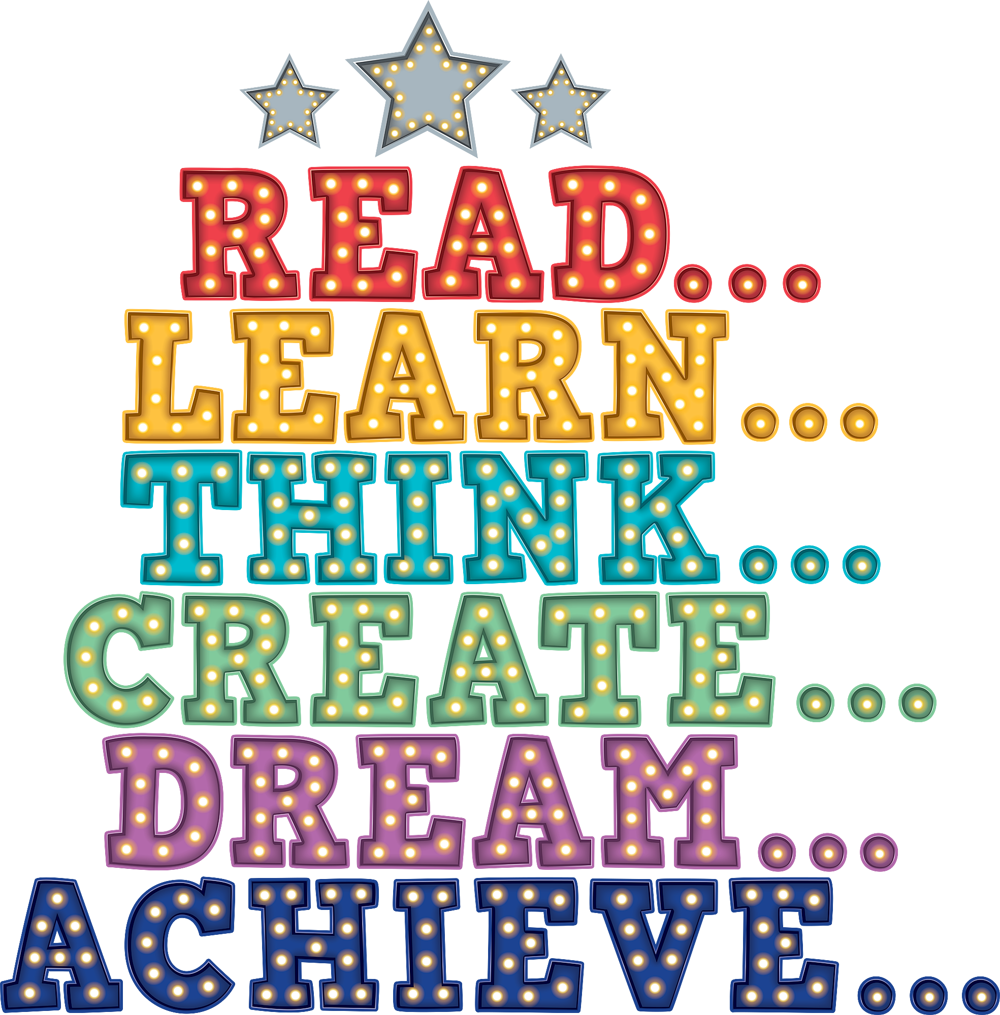 Motivation clipart dream. Marquee bulletin board display