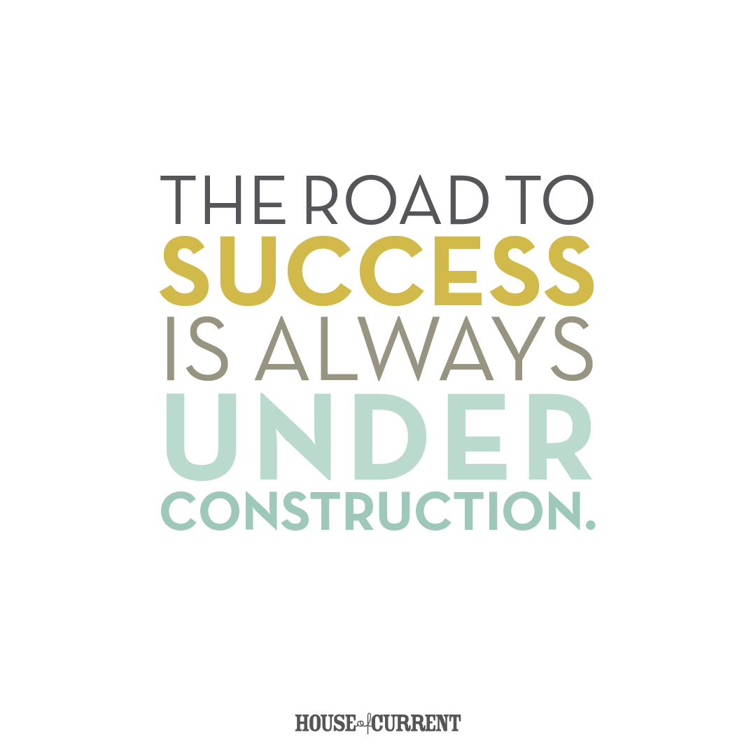 Positive clipart motivational quote. The road to success