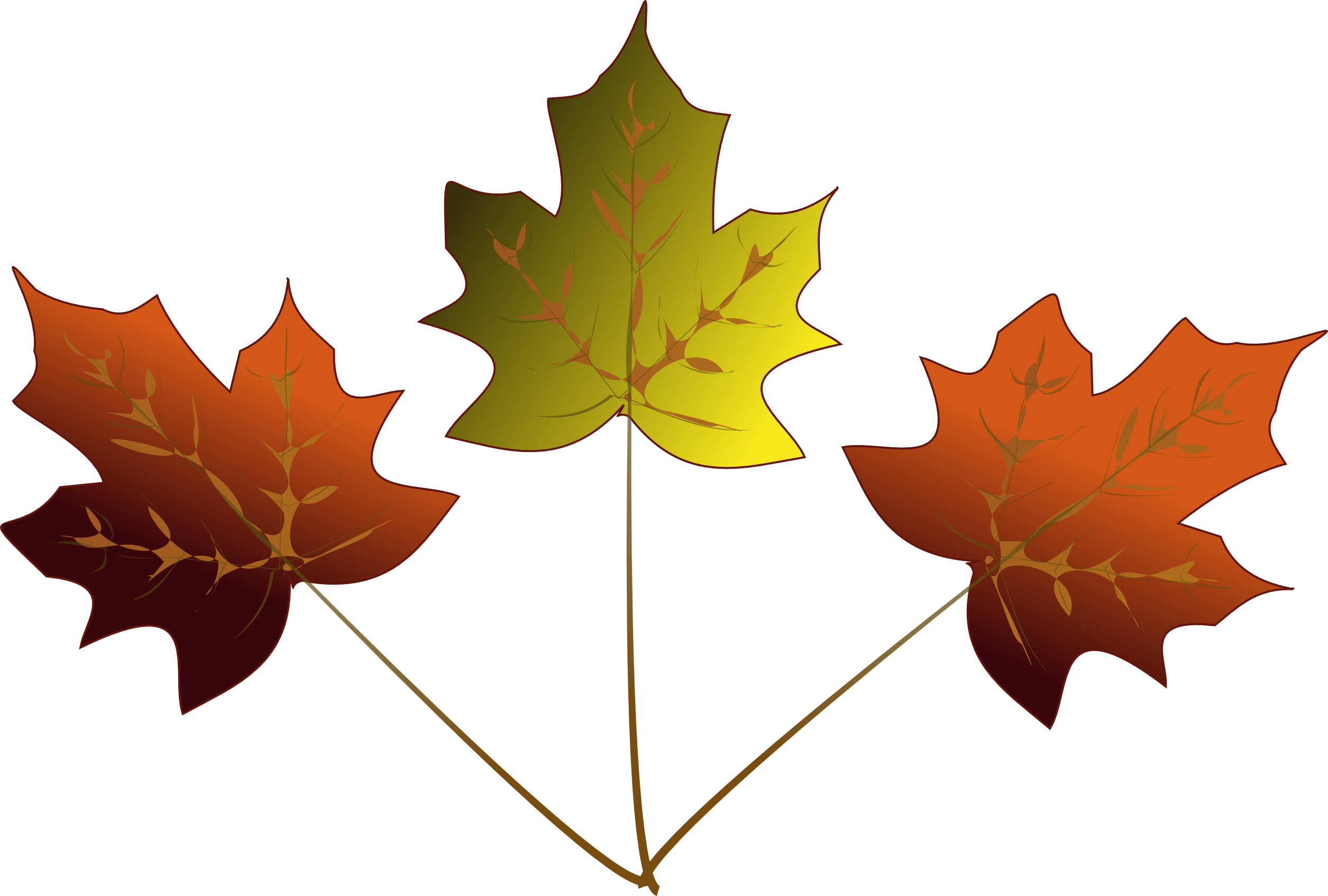 Another inkscape idea eye. Clipart leaves 3 leaves
