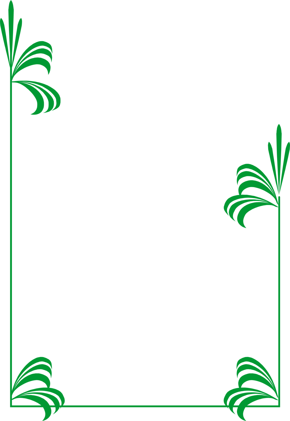 Images of leaves clipart. Green border png