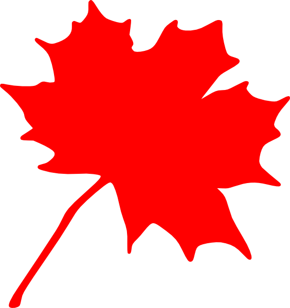 Maple leaf clip art. Leaves clipart vector