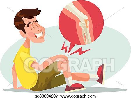 Leg clipart. Vector stock broken illustration