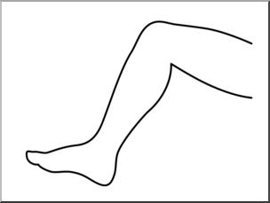 Leg clipart. Black and white station
