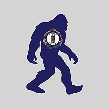 Kentucky bigfoot sticker fa. Leg clipart big foot