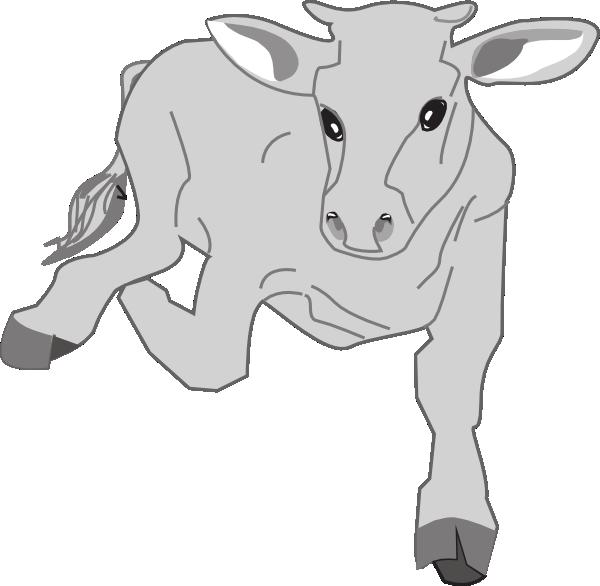 Leg clipart cow. Running clip art at