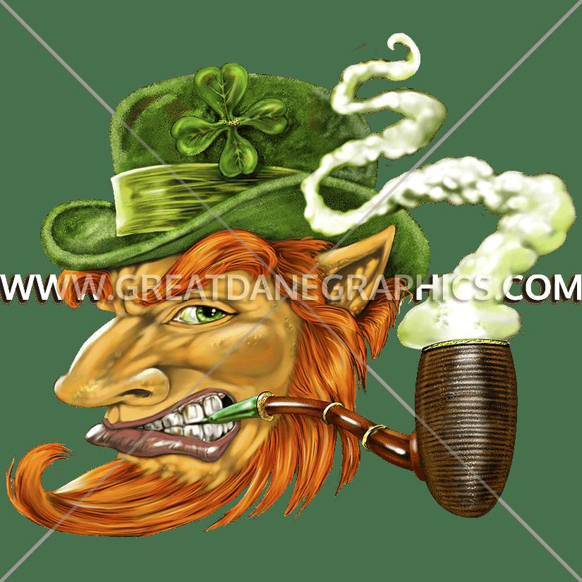 Leprechaun clipart pipe. Profile production ready artwork