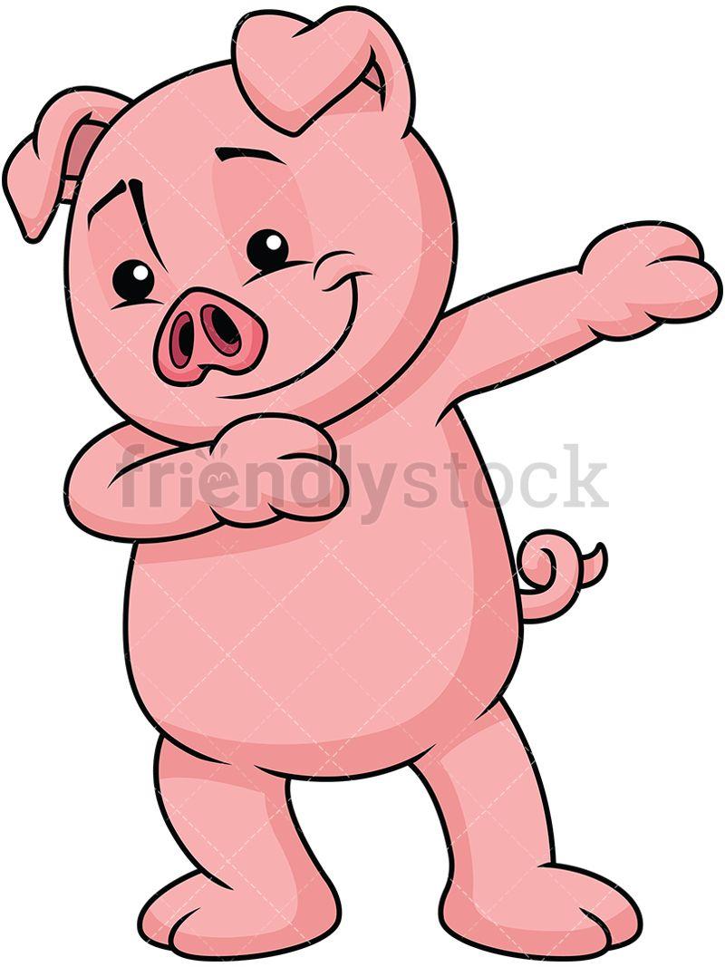 Dabbing pig dabs cute. Pigs clipart dance
