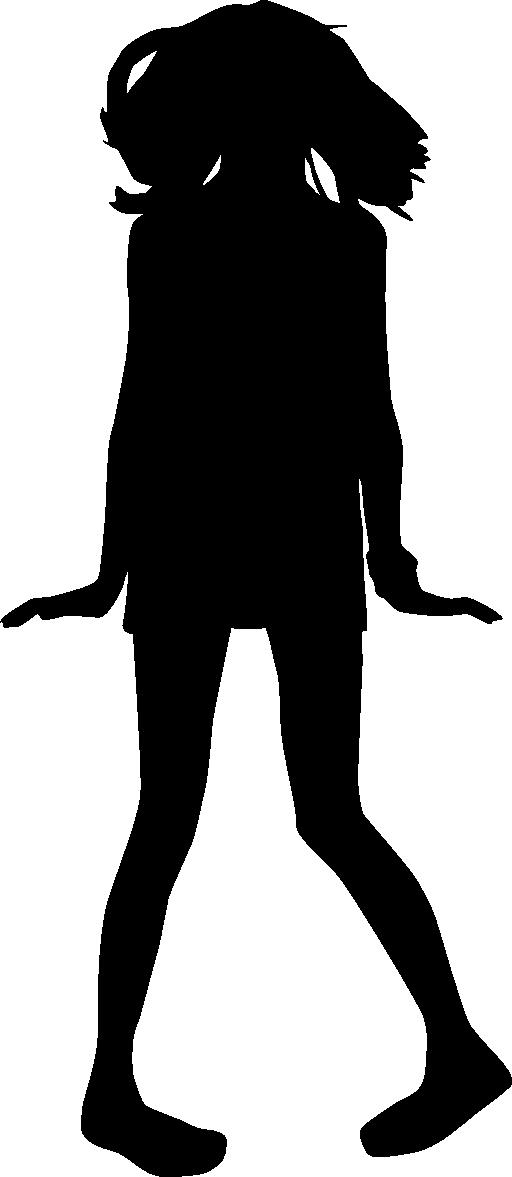 teen clipart silhouette