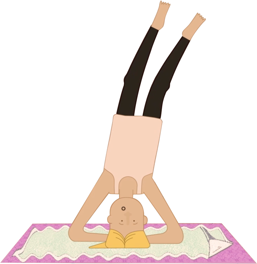 History of the yoga. Skin clipart burned
