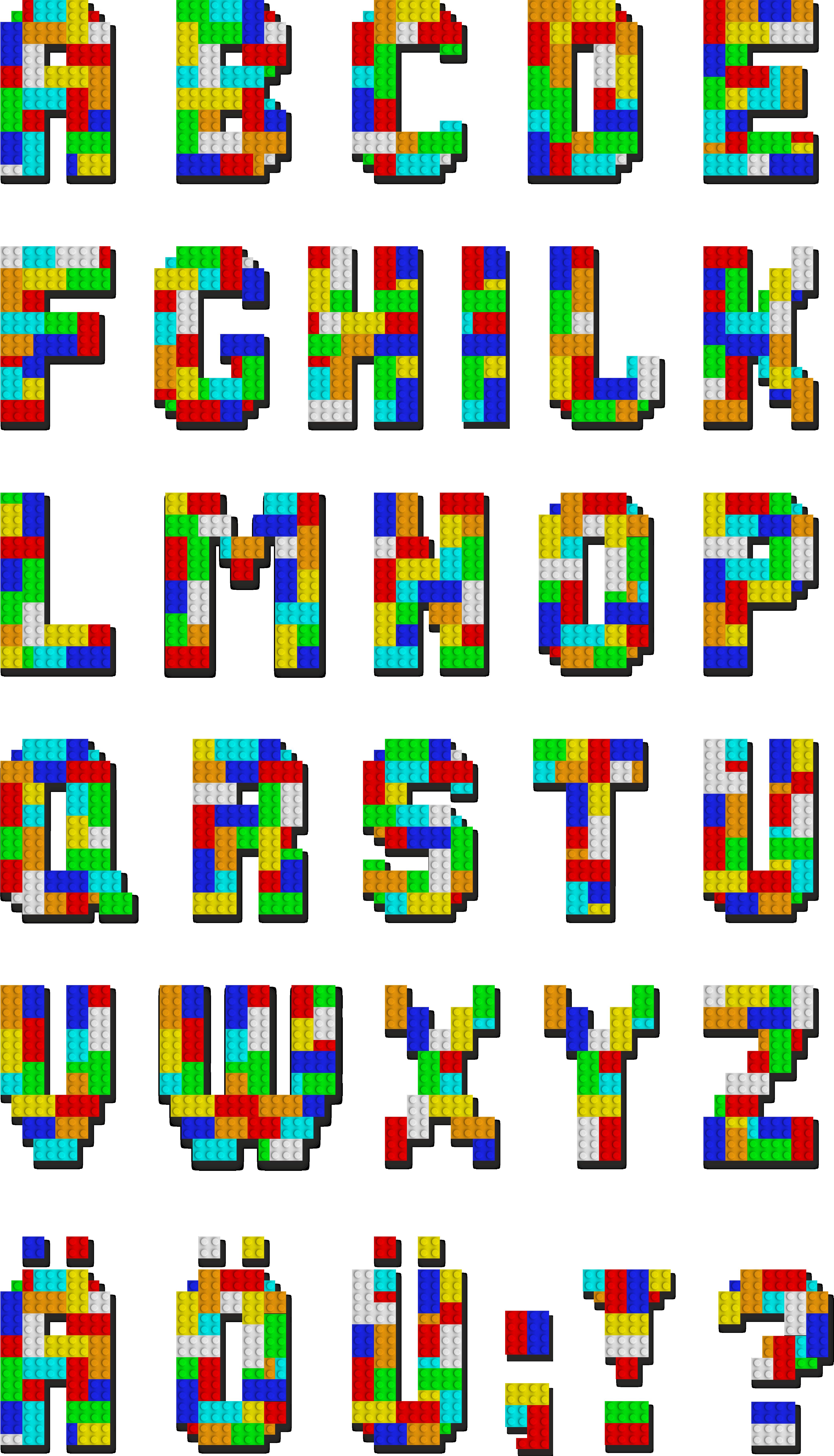 Legos clipart alphabet. Building blocks lego letters