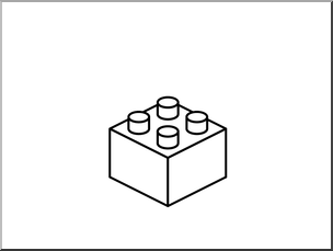 Building blocks free printable. Lego clipart black and white