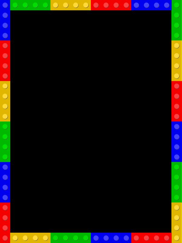 Legos clipart border. Lego frame medium image