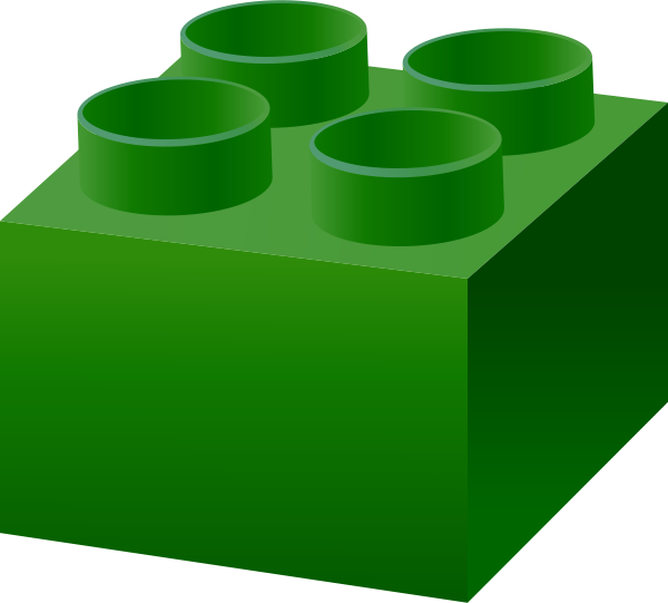 Lego block green techflourish. Legos clipart pink clipart