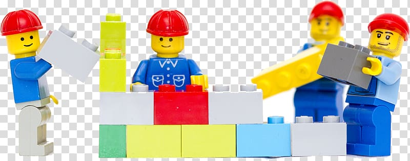 Four assorted color minifigs. Lego clipart construction lego