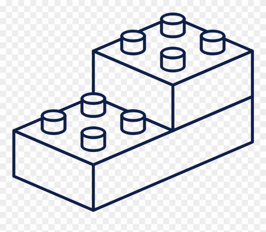 Modular design lego cubes. Legos clipart black and white