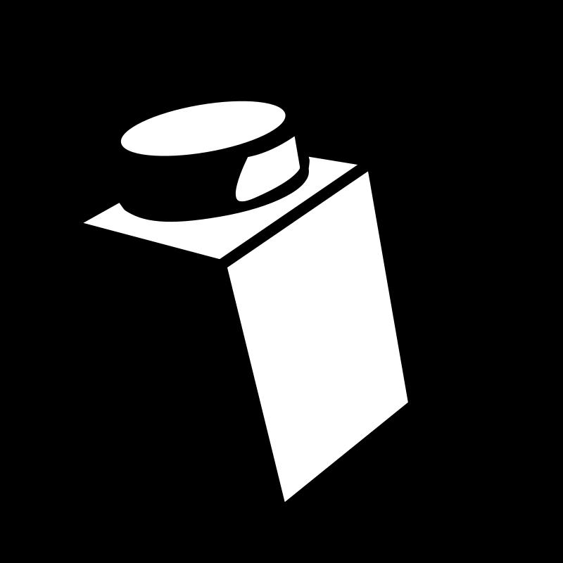Black and white clip. Lego clipart duplo block