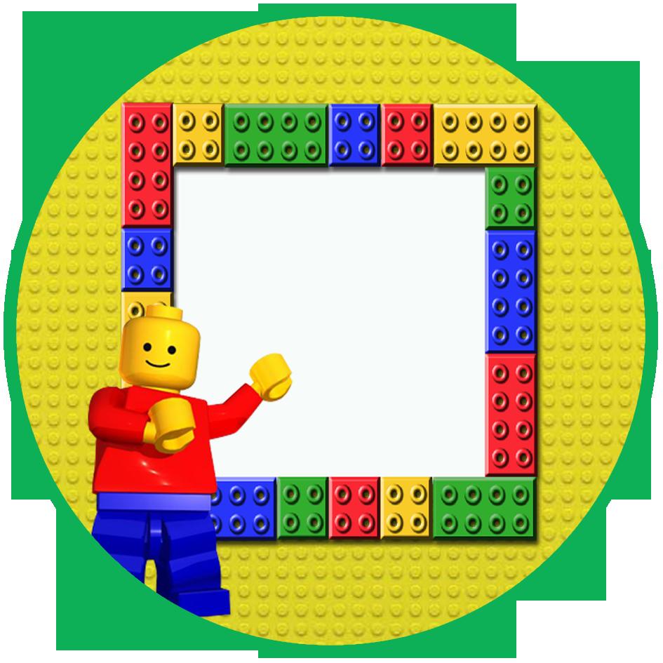 Cone para guloseimas tema. Legos clipart construction lego