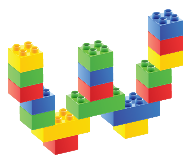 Lego clipart duplo block. Alfabeto de bloques w