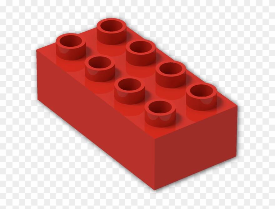 X bright lego red. Legos clipart duplo block