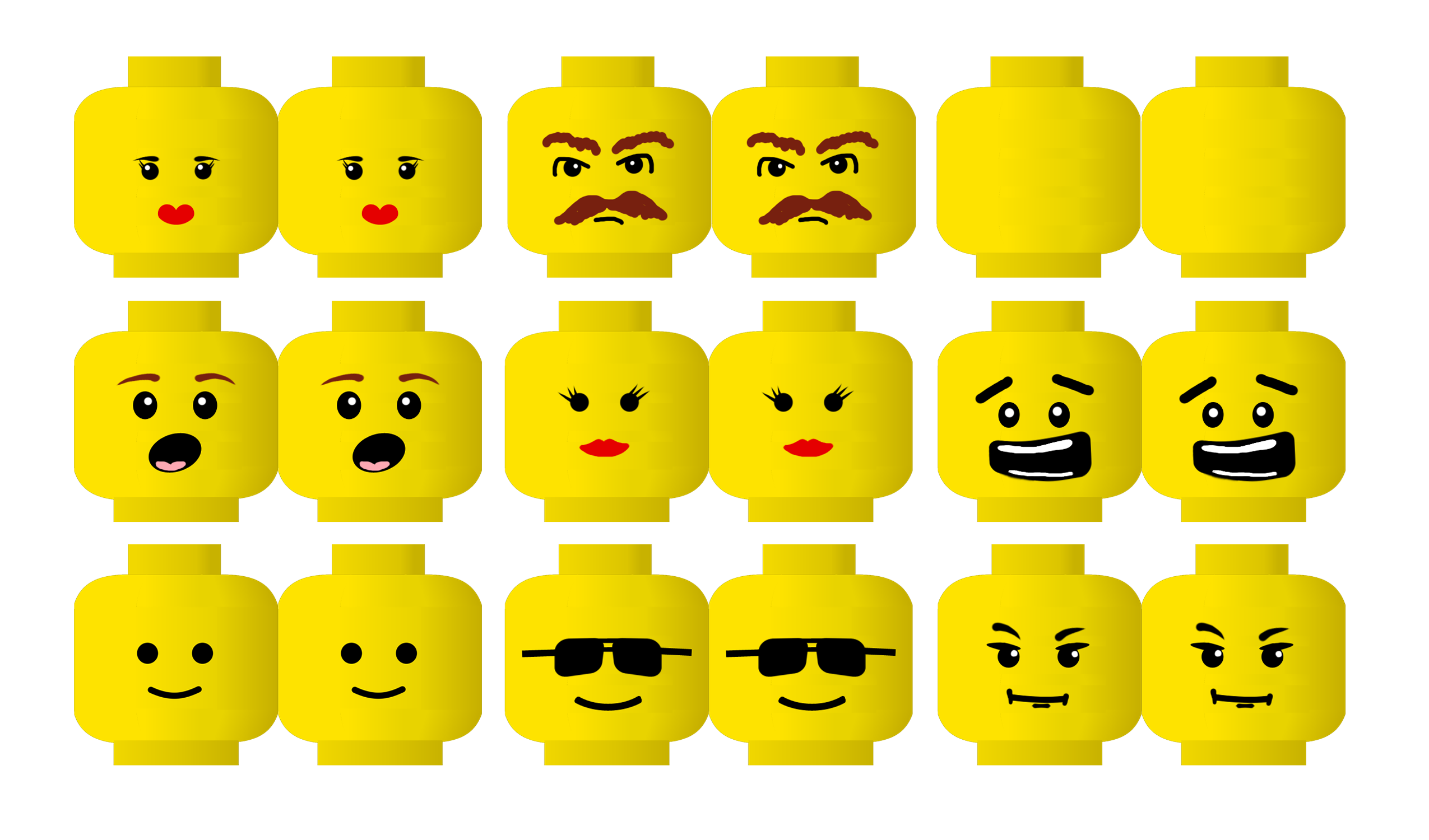 Lego head birthday clip. Legos clipart cartoon