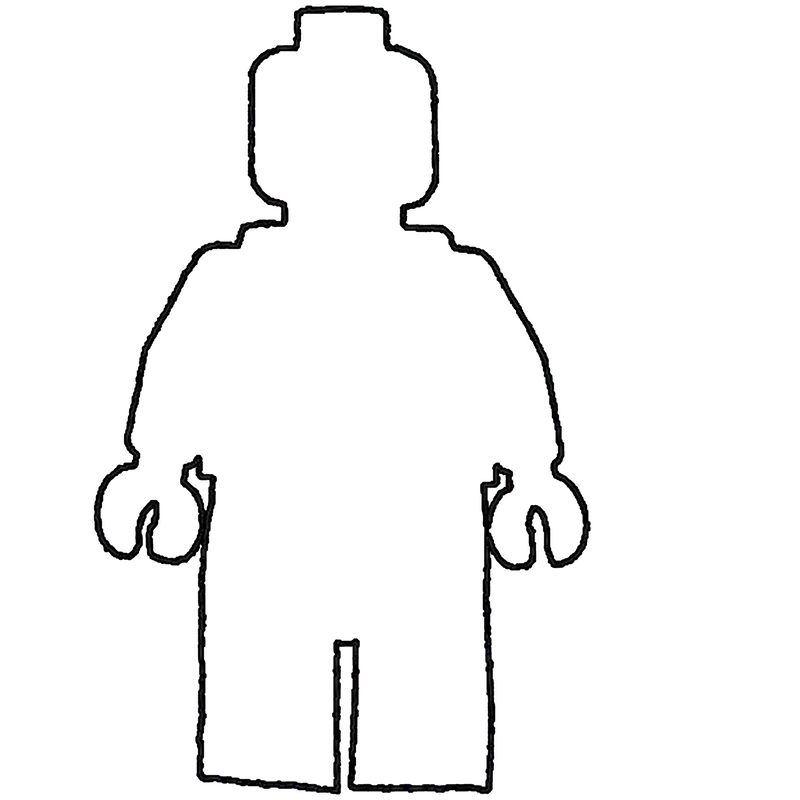 Person outline collection diy. Lego clipart guy