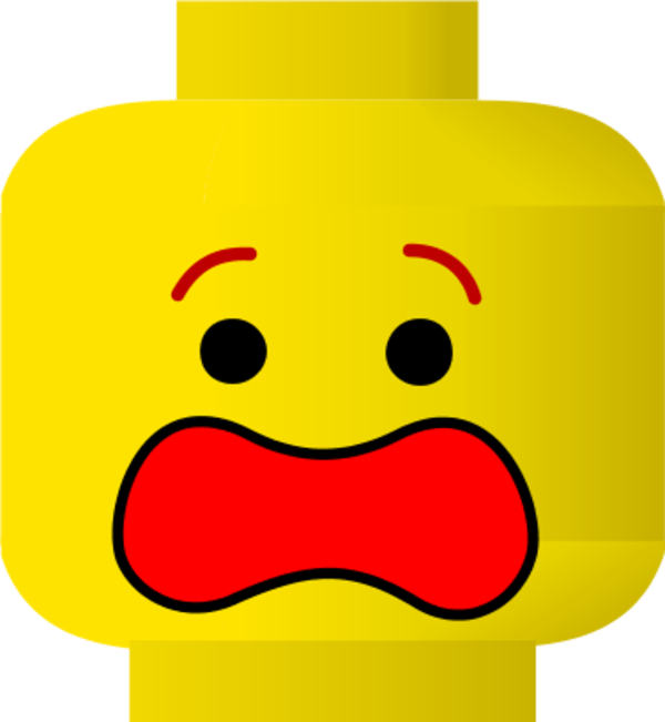 Legos clipart module. Lego head surprised