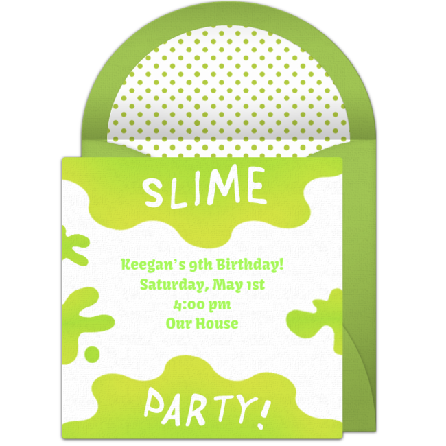 Free slime invitations pinterest. Paintball clipart booger