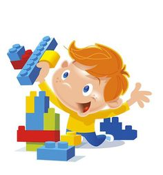 Legos clipart play. Playing lego
