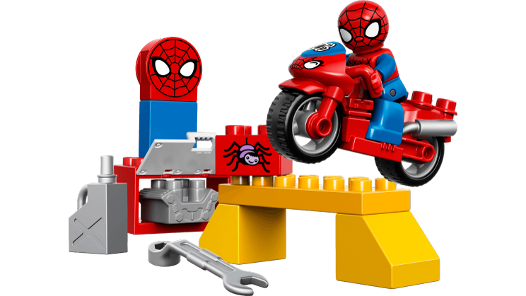 Legos clipart part. Spider man web bike