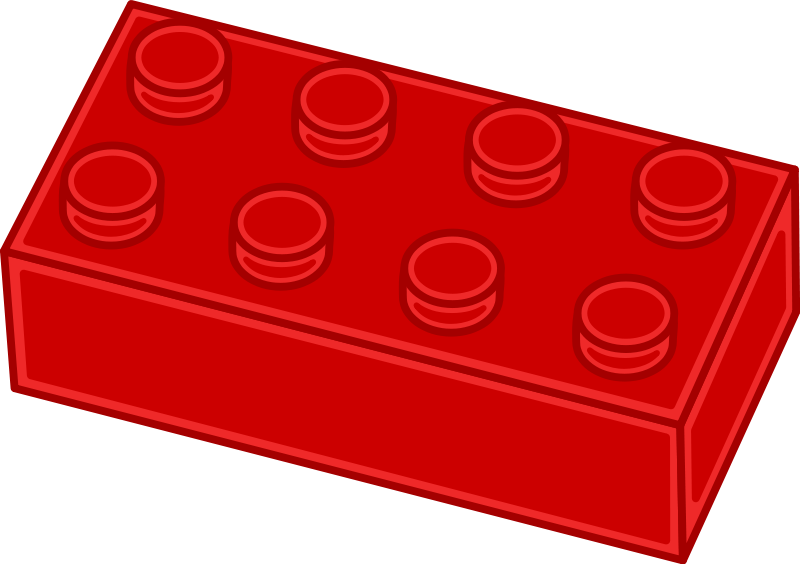 Red lego let go. Legos clipart brick