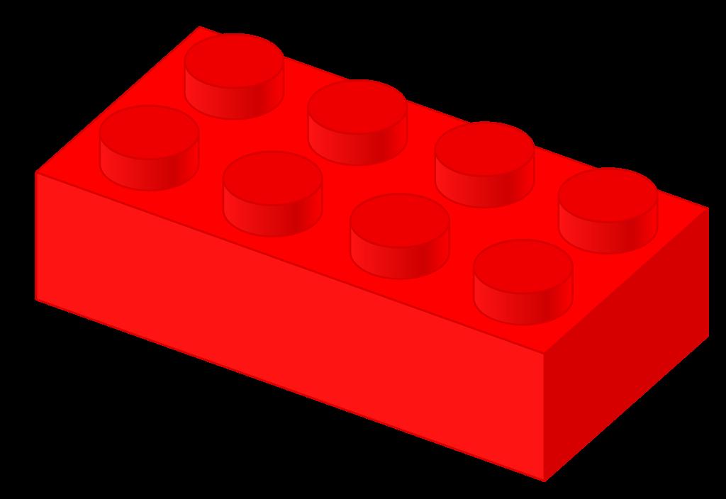 Legos clipart brick. File plastic red svg