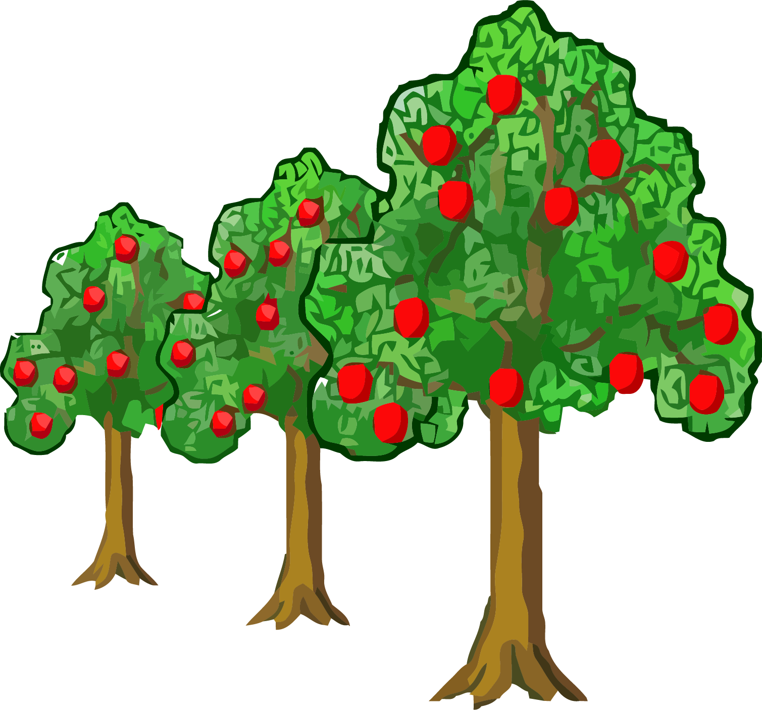 Tree clipart boy. Far near apple png
