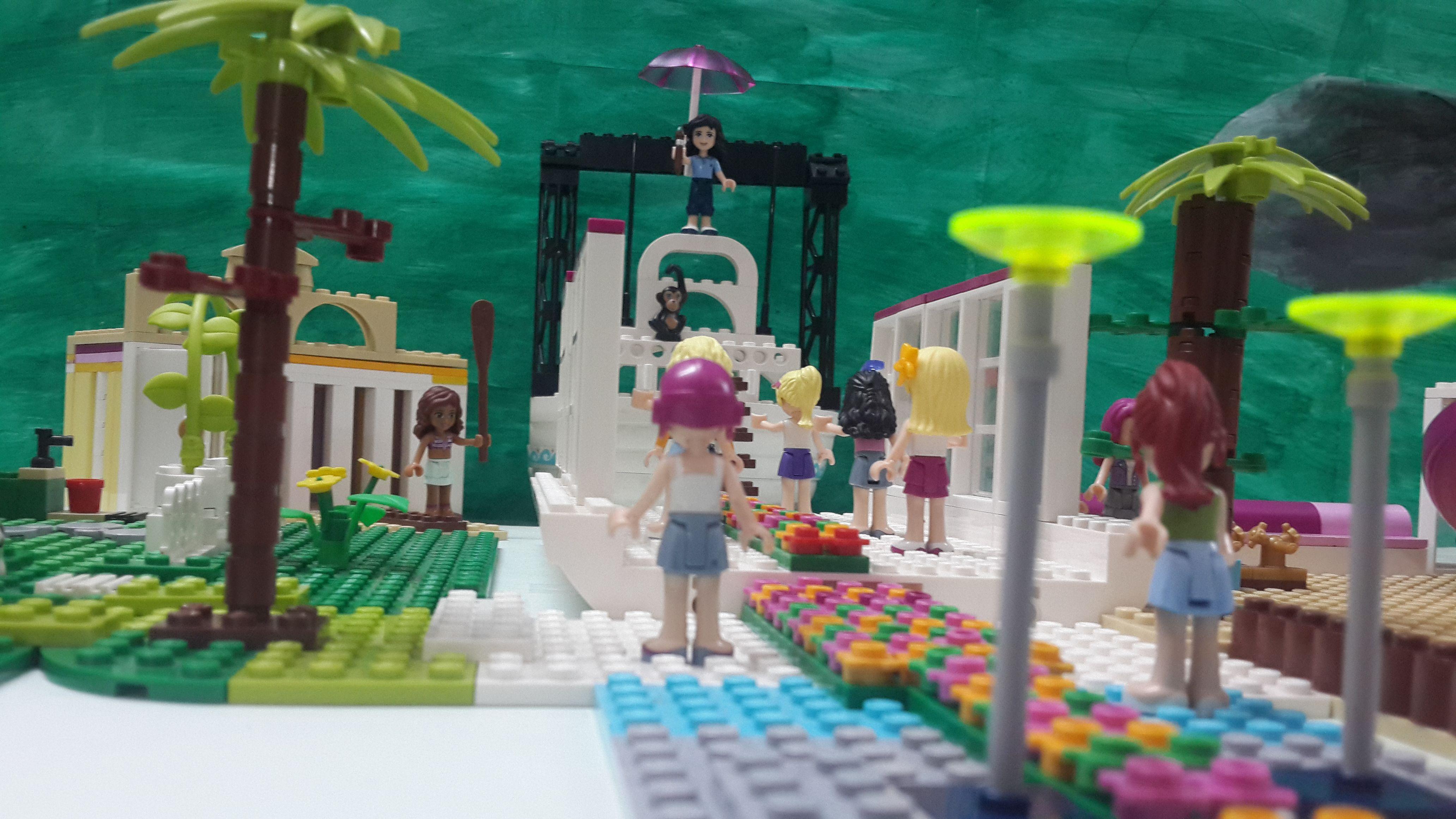 The scene of lord. Lego Krishna