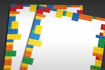 Legos clipart border. Lego portal