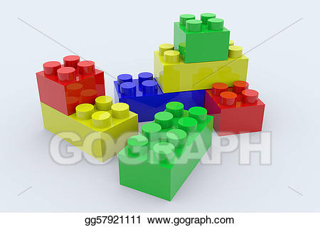 Stock illustration color lego. Legos clipart colored