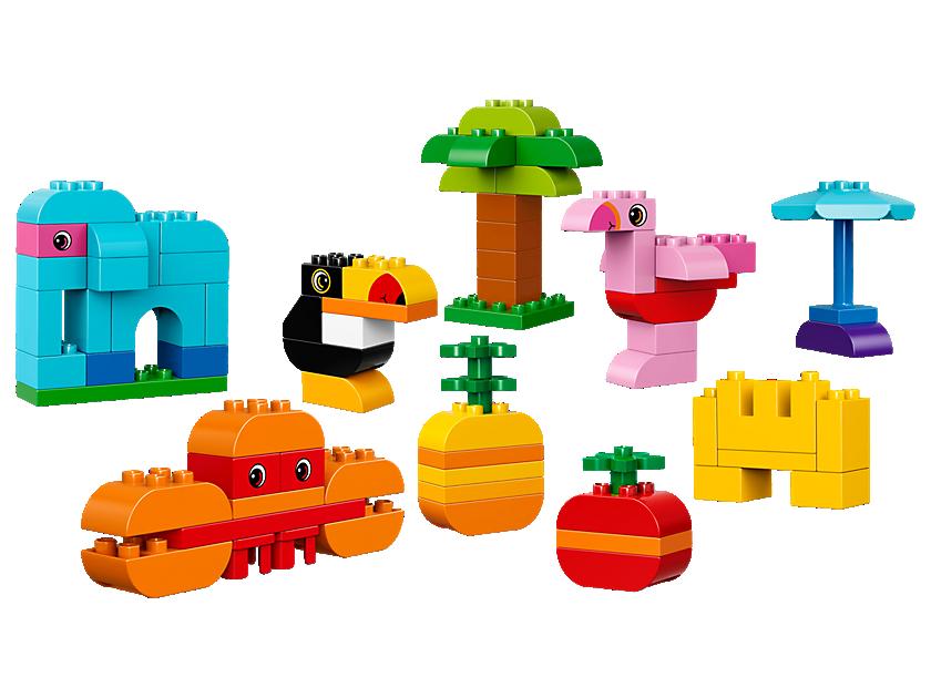 Legos clipart construction lego. Duplo kreativ bauset bunte