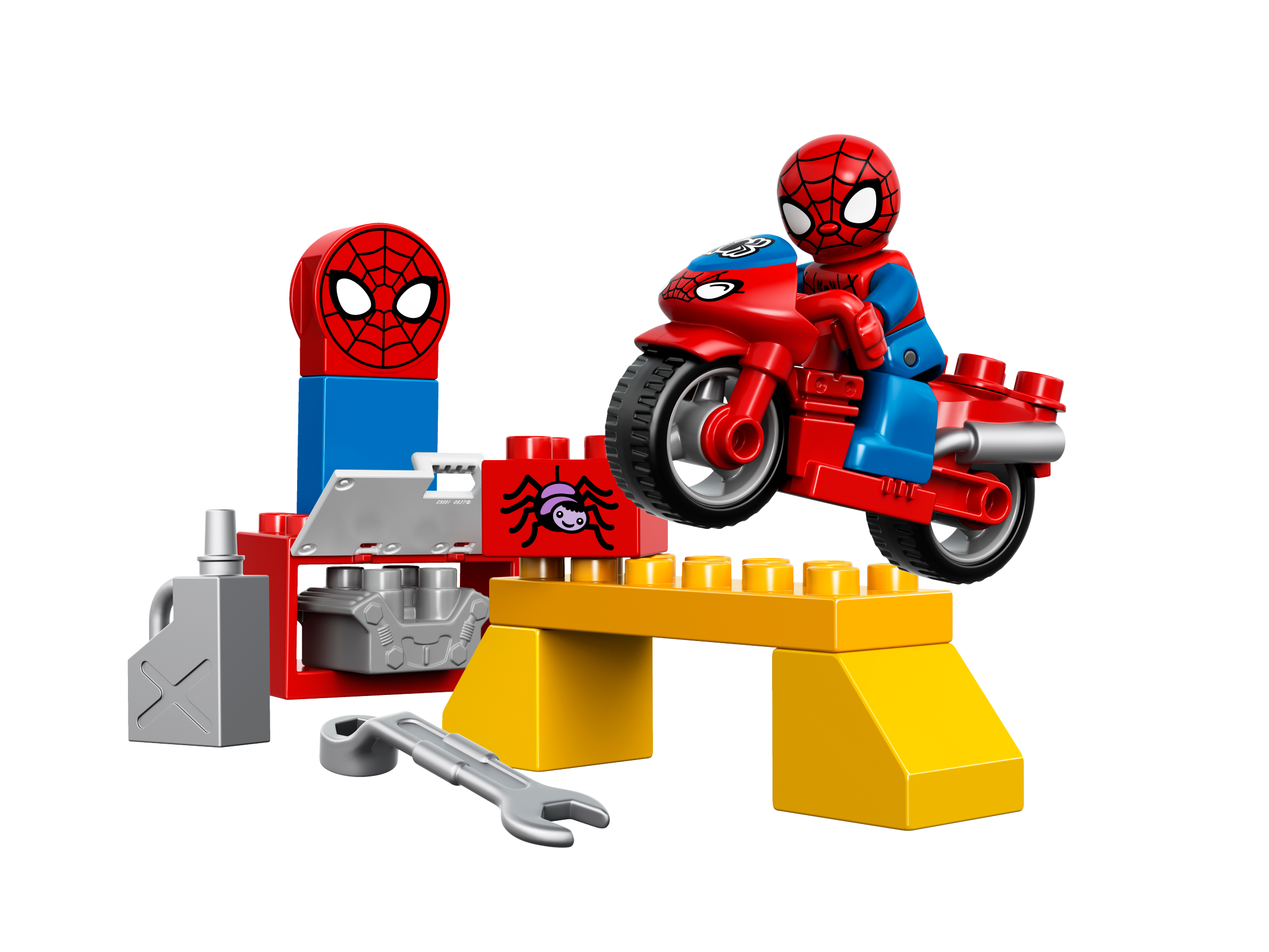 Legos clipart duplo block. Spider man web bike