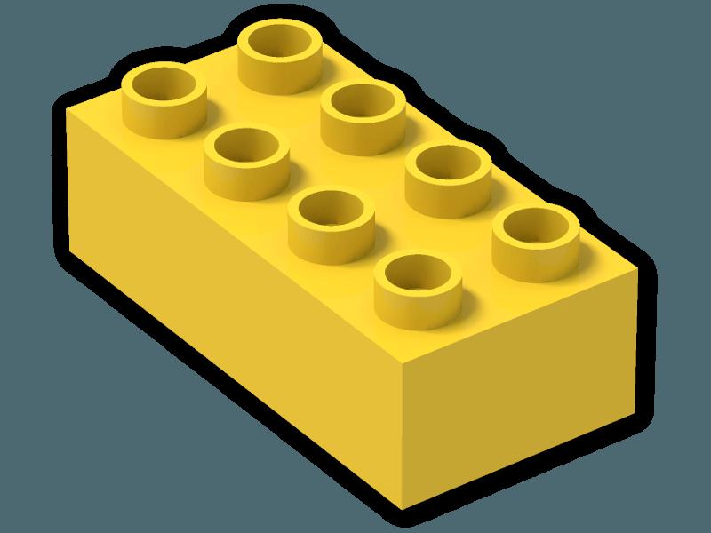 Legos clipart duplo block. Brick x bright yellow
