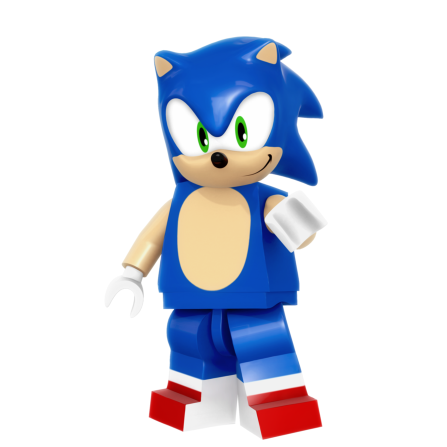 Sonic render by nibroc. Legos clipart figure lego