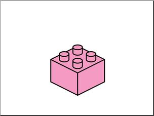 Lego blocks free printable. Legos clipart pink clipart