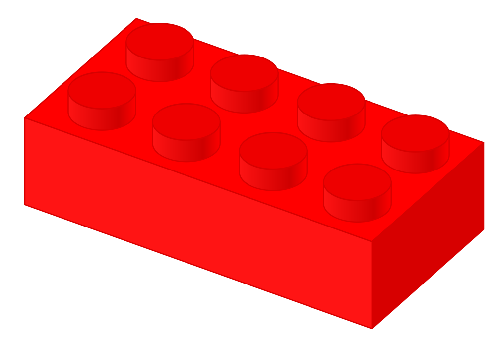 Number 6 clipart number lego. File plastic brick red