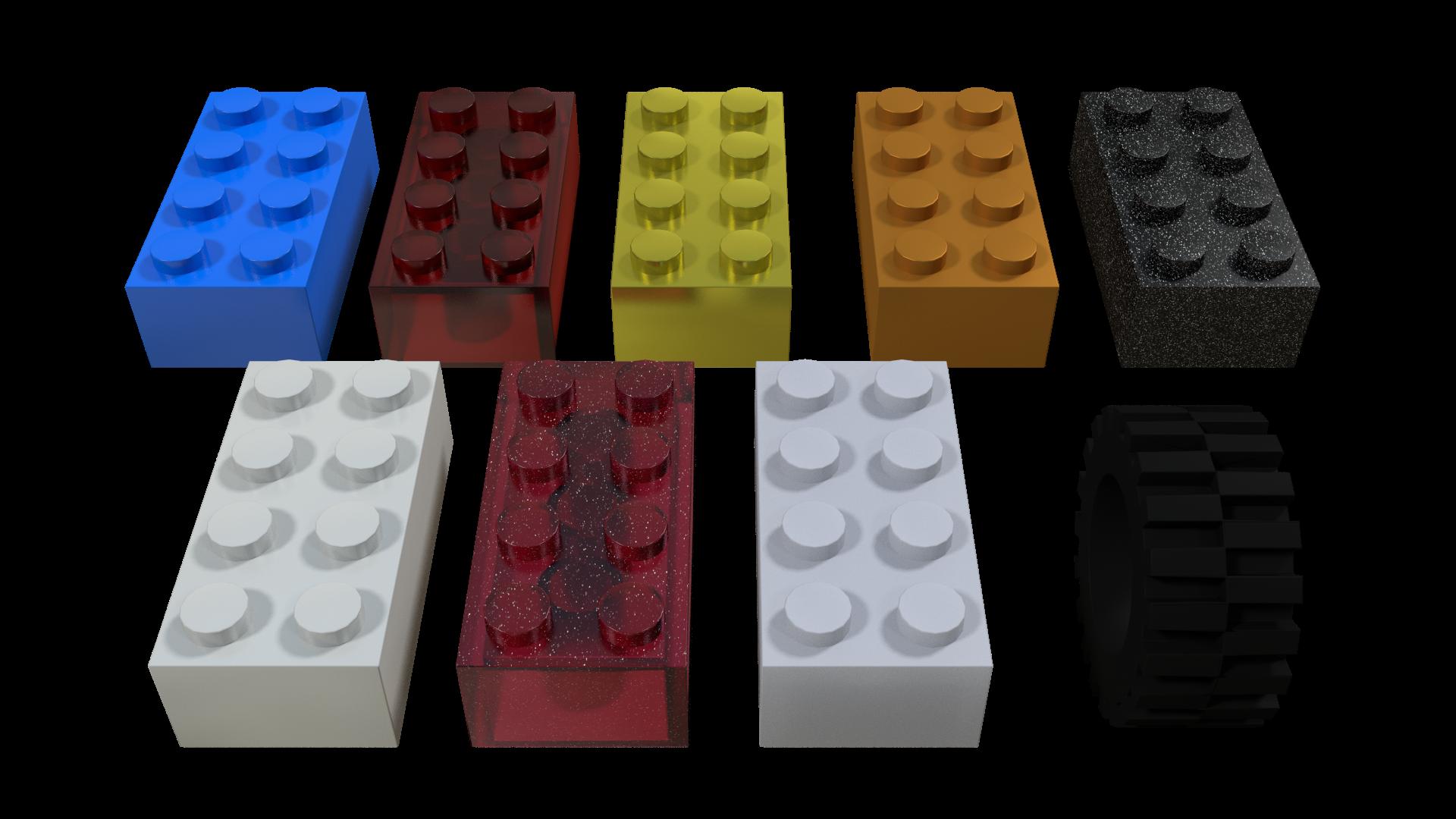 Legos clipart plastic block. Lego materials in blender