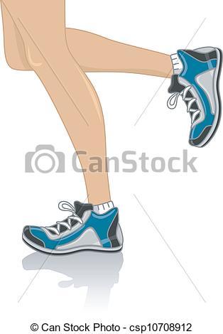 Leg runner . Legs clipart