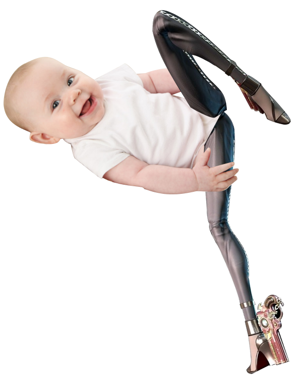 Bayonetta on things a. Legs clipart baby leg