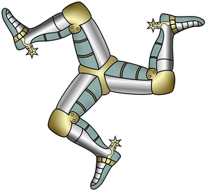 Three of man triskelion. Legs clipart man's