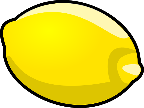 Lemon clipart. Cartoon